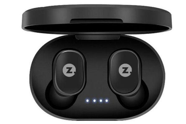 přenosná bezdrátová sluchátka intezze zero miniaturní provedení Bluetooth baterie 90 mah výdrž 2,5 h pohodlná v uších díky ergonomickému tvarování stylové nabíjecí pouzdro 280 mah baterie ovládací tlačítko na sluchátku mikrofon pro handsfree hovory