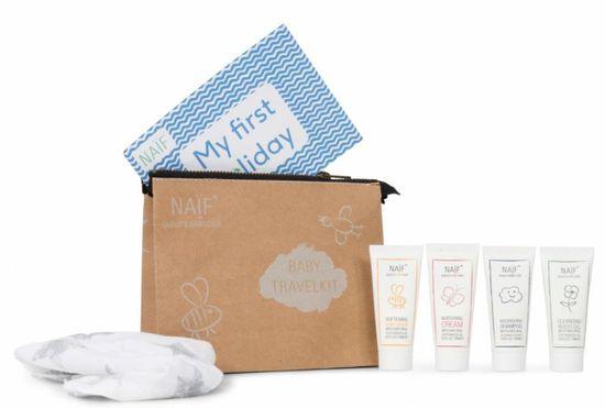 NAIF Cestovní set kosmetiky pro děti a miminka 4x15ml