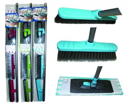 Lifetime Clean set za čišćenje podova, 5 dijelni, 2x metla, 1x teleskop 110 cm, 1x krpa