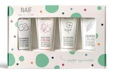 NAIF Set miniatur kosmetiky pro děti a miminka 4x15ml