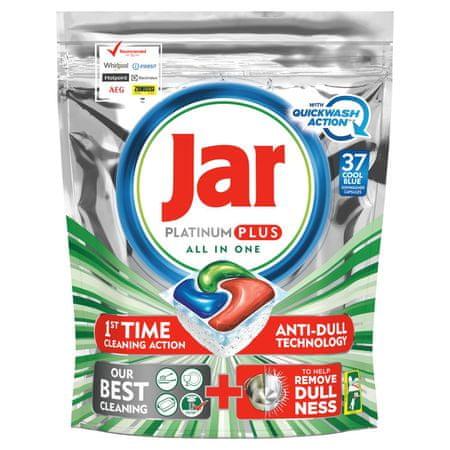 Jar Platinum Plus Green Quickwash Action kapsule za pomivalni stroj, 37 kosov