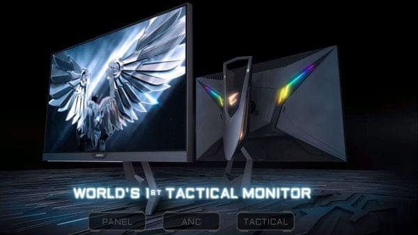 herní monitor gigabyte Aorus FI27Q (AORUS FI27Q-EK) dokonalý pozorovací úhel hdr vysoký dynamický rozsah černý ekvalizér 1 ms doba odezvy elegantní design zakřivení