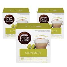 NESCAFÉ Dolce Gusto Cappuccino kava 186,4 g (16 kapsul), trojno pakiranje