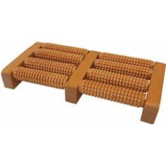 Popron Akupresurní masážní roler na chodidla dřevěný