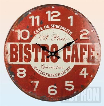 "Popron Kovové hodiny ""Bistro Cafe"""
