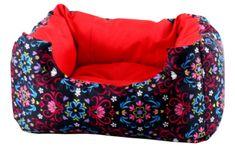 Petee Legowisko Flowee Red 110cm x 100cm