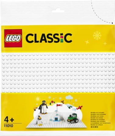 LEGO Classic 11010 podloga za sestavljanje, bela