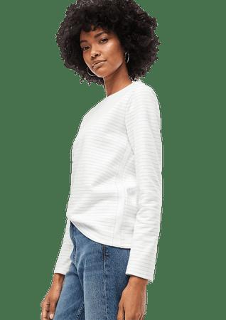 s.Oliver női póló 14.912.31.2710 38, krémszínű
