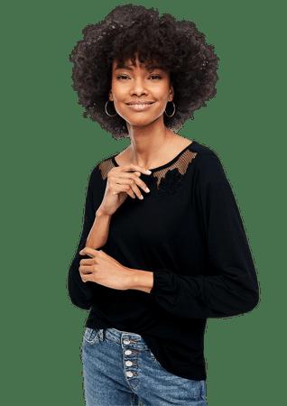s.Oliver női póló 14.912.31.6941, 36, fekete
