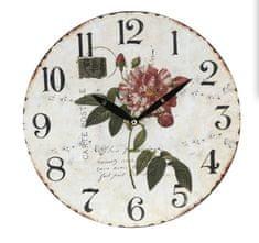Koopman zidni sat, 28 cm, s motivom cvijeća 4