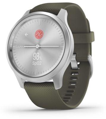 Hybridné chytré hodinky Garmin vivomove Style, tep, stres, spánok, metabolizmus, pitný režim, vzdialenosti, kroky, spálené kalórie, VO2 Max, zásoba energie
