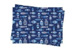 INFIBRA Jednorázové papírové prostírání Infibra Bluefish 30x45cm -250ks