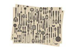 INFIBRA Jednorázové papírové prostírání Infibra Brunch 30x40cm - 2x250ks