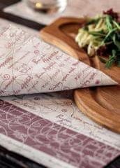 INFIBRA Papírová kapsička na příbory Infibra Buon Appetito s bílým ubrouskem - 125ks