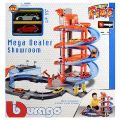 BBurago BB30031 STREET FIRE MEGA DEALER PLAY SET + 2 autá