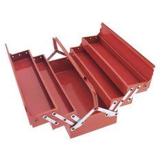 Cogex kovový kufřík na nářadí, červená
