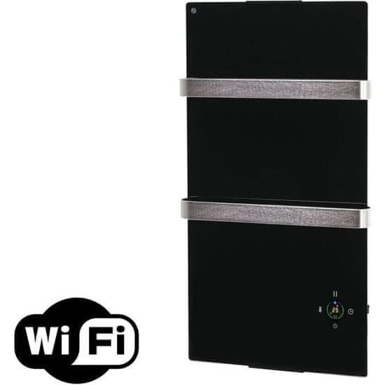 Pure2Improve koupelnový radiátor Zafir V600T B WiFi, černá