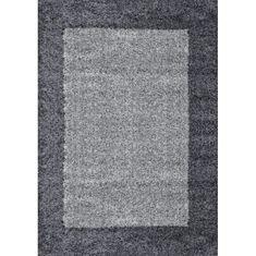 Nazar moderní chlupatý koberec - šedý- 150 × 80 cm