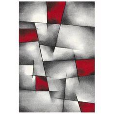 Nazar moderní koberec červenošedý - 150 × 80 cm