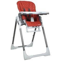 Renolux dětská vysoká jídelní židlička Vision - červená
