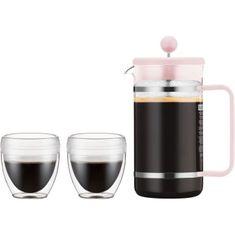 Bodum kávovar french press, 1 l, na 8 šálků, + 2 nerozbitné šálky