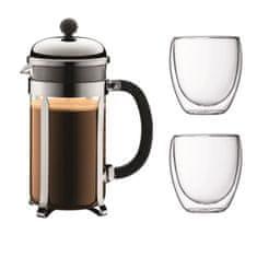 Bodum kávovar french press, 1 l, na 8 šálků + 2 šálky