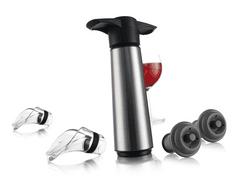 Vacuvin 0649360 vak. pumpa na víno z nerez. oceli (1 pumpa, 2 zátky, 2 odlivka)