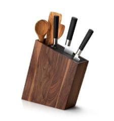 Continenta C4251 Blok/stojan na nože s flexi vložkou a priehradkou, šikmý, orech 31x8x24,5cm