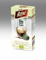 René BIO organic Lungo – komposztálható kapszulák a Nespresso kávéfőzőkbe, 10 db