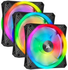 Corsair iCUE QL120 RGB, 3x120mm, Lighting Node CORE, čierny