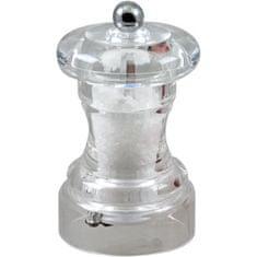 Bioflon průhledný akrylový mlýnek na sůl - 10 cm