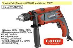 Extol Premium Elektrická vrtačka s příklepem 750 W Extol Premium 8890012