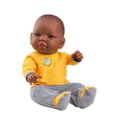Paola Reina Bábätko Aldeas SOS chlapček v žltom 45cm