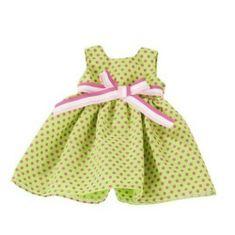 Götz Šaty zelené bodkované 45-50cm