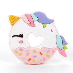 Loulou Lollipop Hryzadlo silikónové Donut jednorožec