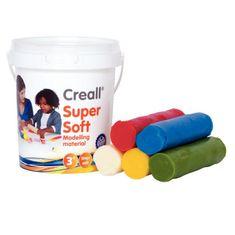Creall Plastelína Supersoft 5 farieb vo vedierku