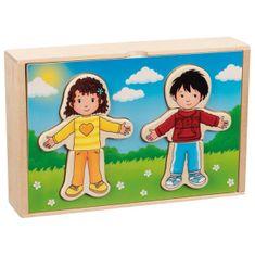 Goki Puzzle Obleč deti