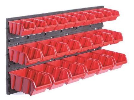 Prosperplast Stenski organizator z 24 škatlami za orodje Orderline (PPNTBNP2R)
