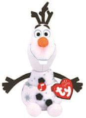 TY Beanie Babies Lic Frozen 2 Olaf, snjegović sa zvukom, 15 cm