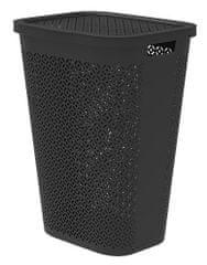 CURVER kosz na brudne pranie Terrazzo 55 l czarny