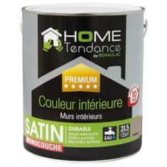 Home Tendance jednovrstvá saténová hnědá omyvatelná barva - 2,5 litru