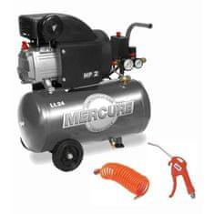 Mercure horizontální olejový kompresor 25 l - 1500 W
