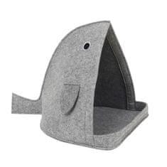 BUBIMEX designový pelíšek pro kočky - ryba šedá