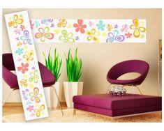 Dimex Dekoračné pásy - Farebné kvety, 49 x 270 cm