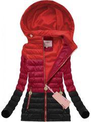 Amando Prechodná bunda ombre červená (W618)