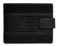 Buffalo Wild Pánská kožená peněženka se vzorováním na šířku, černá