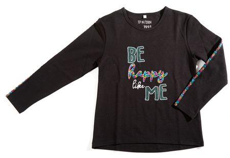 Topo dekliška majica, črna, 128