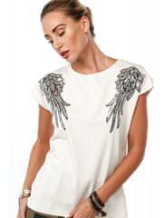 Amando Béžové tričko s krídlami 4375