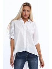 Amando Dámska biela oversize košeľa MP26362