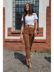 Amando Dámske nohavice s bočnými vreckami 9021 hnedé